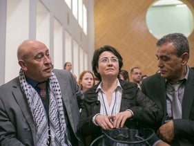 MKs Basel Ghattas, Haneen Zoabi and Jamal Zakalka from the Joint Arab List's Balad faction.