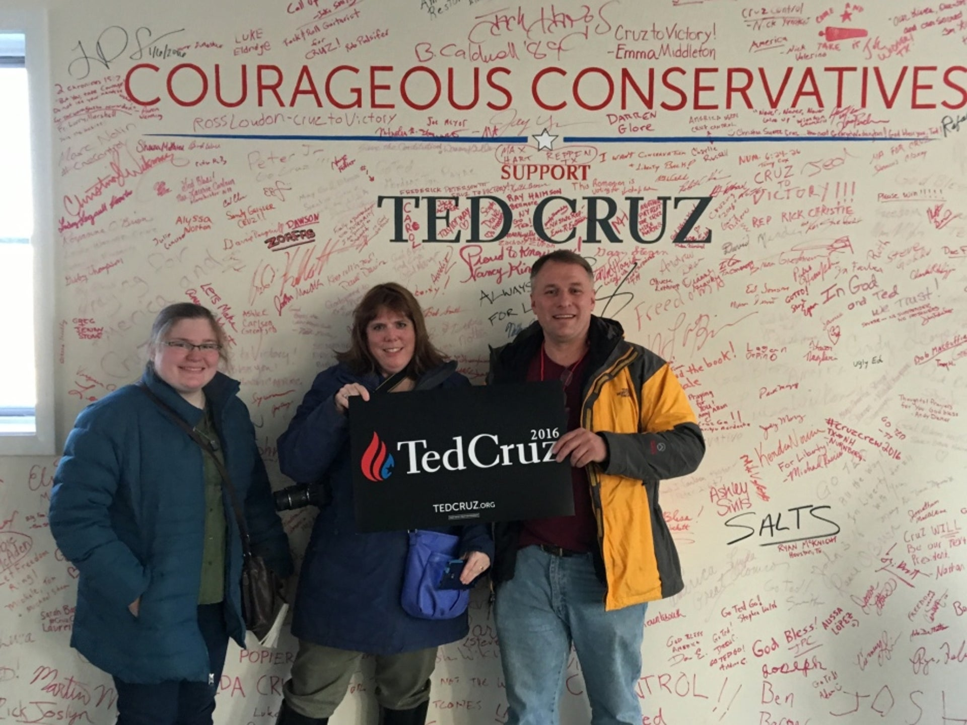 Ted Cruz's New Hampshire campaign headquarters, Feb. 2016.