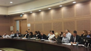 A meeting of the Knesset Constitution, Law and Justice Committee in Jerusalem, January 4, 2016.