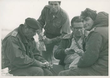 Avigdor 'Yanush' Ben Gal, right, in the field in 1978.