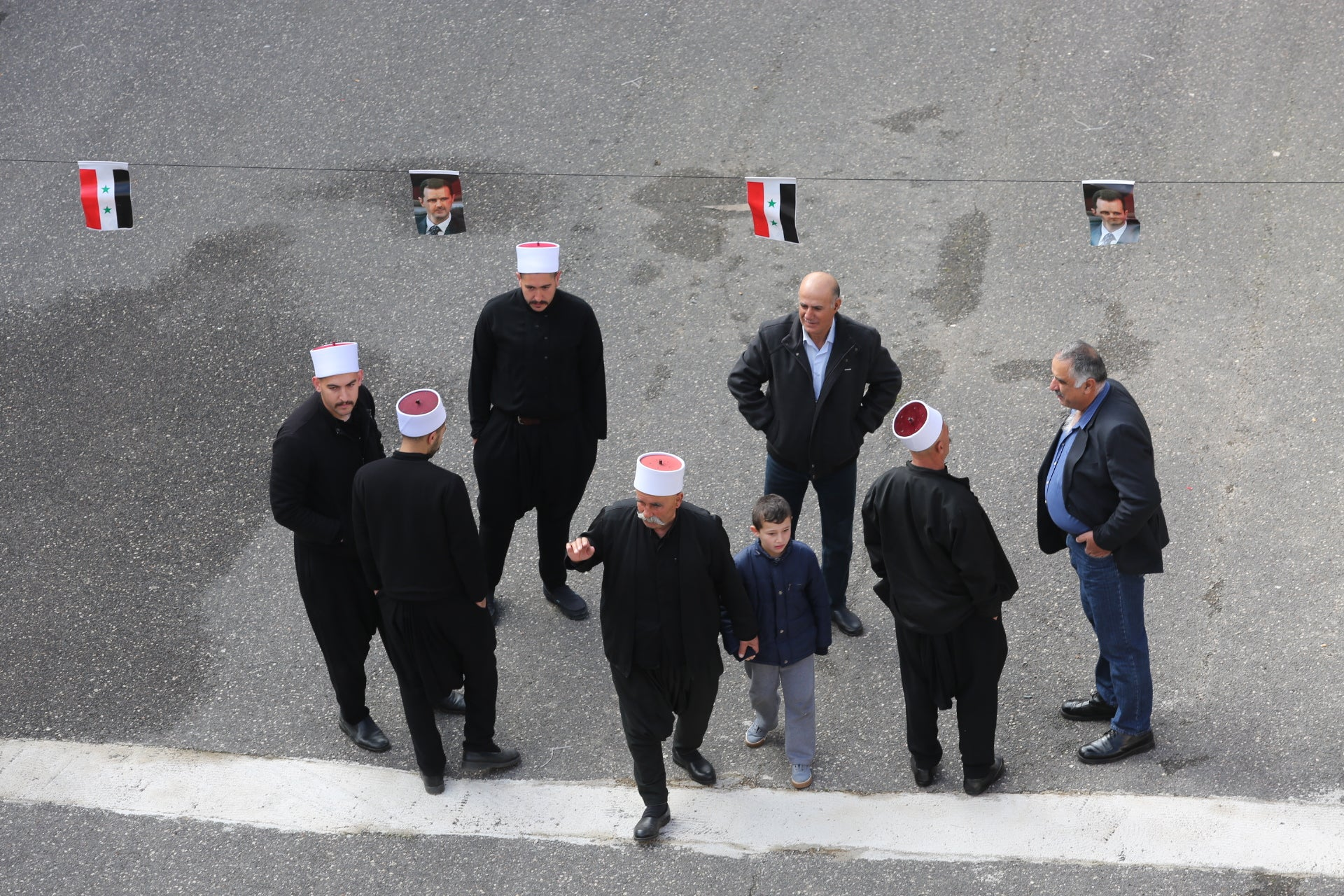 Israeli Druze protest in solidarity with their brethren in Syria, February 14, 2016.