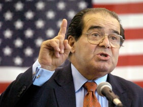The late U.S. Supreme Court Justice Antonin Scalia, April 7, 2004.