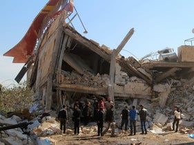 Doctors Without Borders hospital after being bombed in Maaret al-Numan, Syria, Feb. 15, 2016.