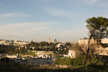 A hotel and luxury apartments are slated to be built on this historic hilltop in the Abu Tor neighborhood in Jerusalem, February 17, 2016.