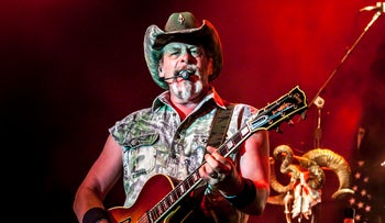 Ted Nugent performs in Indianapolis at the Murat, July 31, 2013.