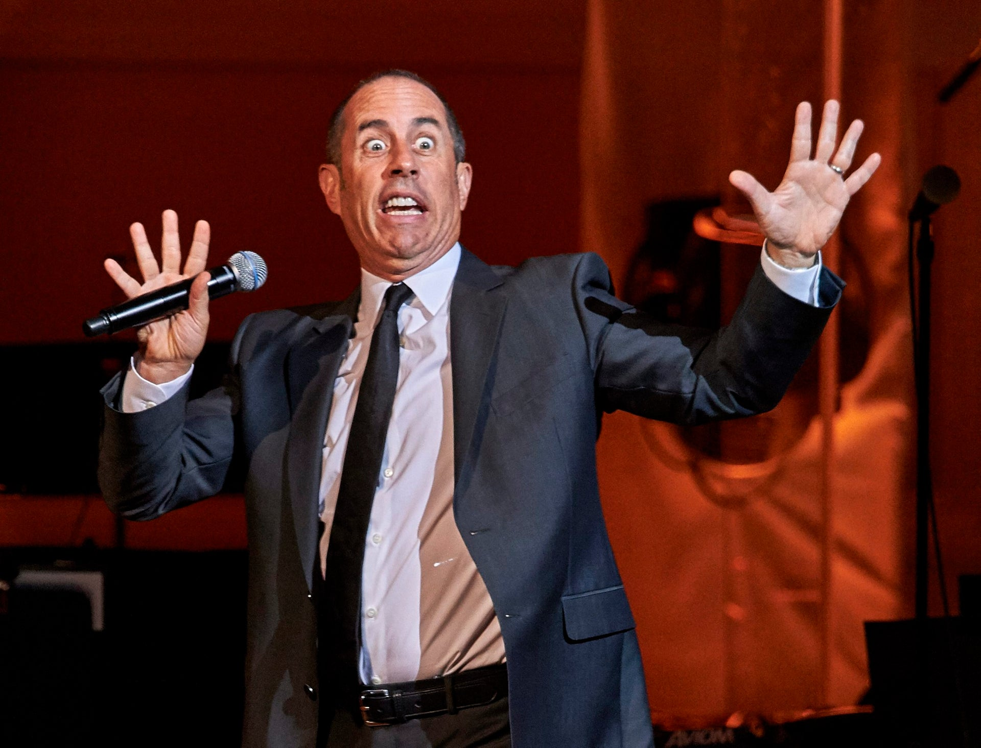 In this November 4, 2015 file photo, Jerry Seinfeld performs at the David Lynch Foundation Benefit Concert at Carnegie Hall in New York.