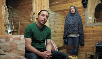 Amir Saleima in his parents's Jerusalem home.