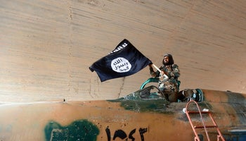 In Raqqa, Syria: Islamic State fighters control much territory in Iraq and Syria - and seek a foothold in the Sinai too.