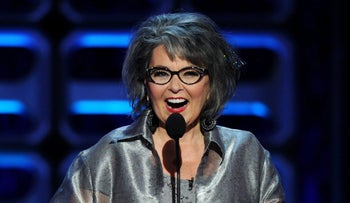 """Roseanne Barr onstage at The """"COMEDY CENTRAL Roast of Roseanne"""" at the Hollywood Palladium on AUGUST 4, 2012 in Hollywood, California."""