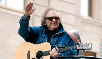 Don McLean at the Macy's Thanksgiving Day Parade in New York, Nov. 22, 2012.