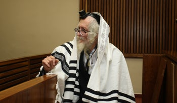 Rabbi Eliezer Berland, who is wanted for sex crimes in Israel, appears before the North Gauteng High Court in Pretoria, South Africa, April 20, 2016.