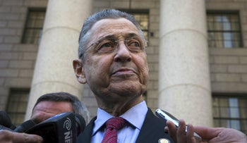Former New York State Assembly Speaker Sheldon Silver departs an arraignment hearing at the U.S. Federal Courthouse, New York, April 28, 2015.