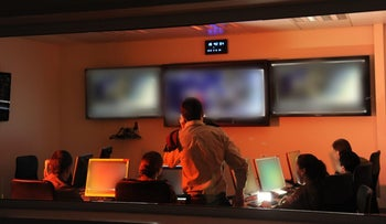 An Israel Defense Forces cyber war room.