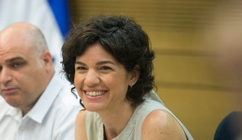 Tamar Zandberg, chair of the Knesset's Committee on Drug Abuse, at the Knesset.