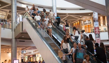 A shopping mall in Israel. Cohen argues that an additional weekend day will translate into more purchases.