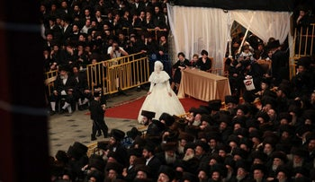The wedding in 2013 of the young grandson of the admor, or leader, of the Belz Hasidic sect.