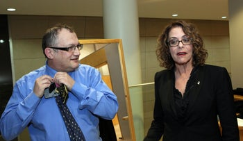 Prof. David Newman with Ben Gurion University President Prof. Rivka Carmi, in 2012.