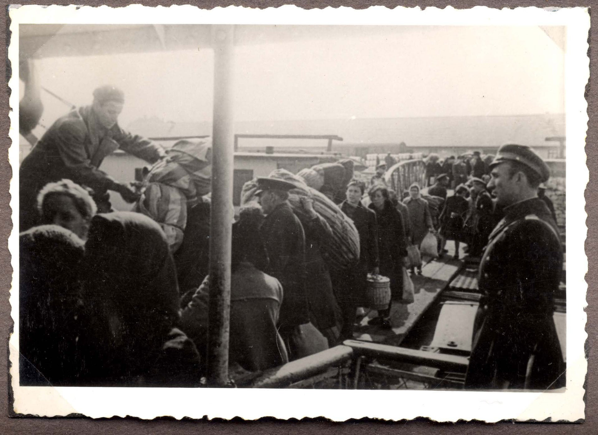 Jews being loaded onto a transport ship in Lom, Bulgaria, March 1943.