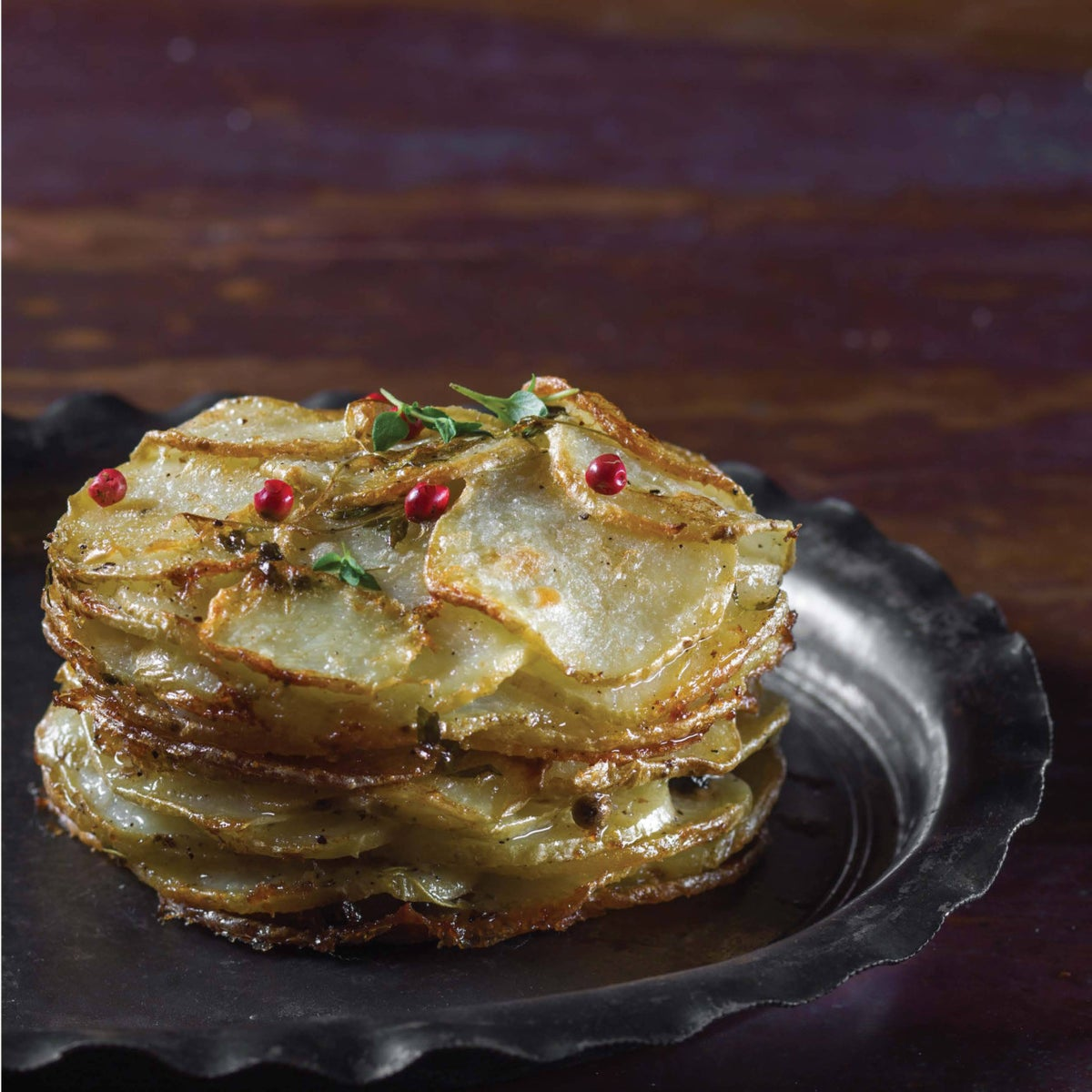 Potato and onion gratin. Rich and filling.