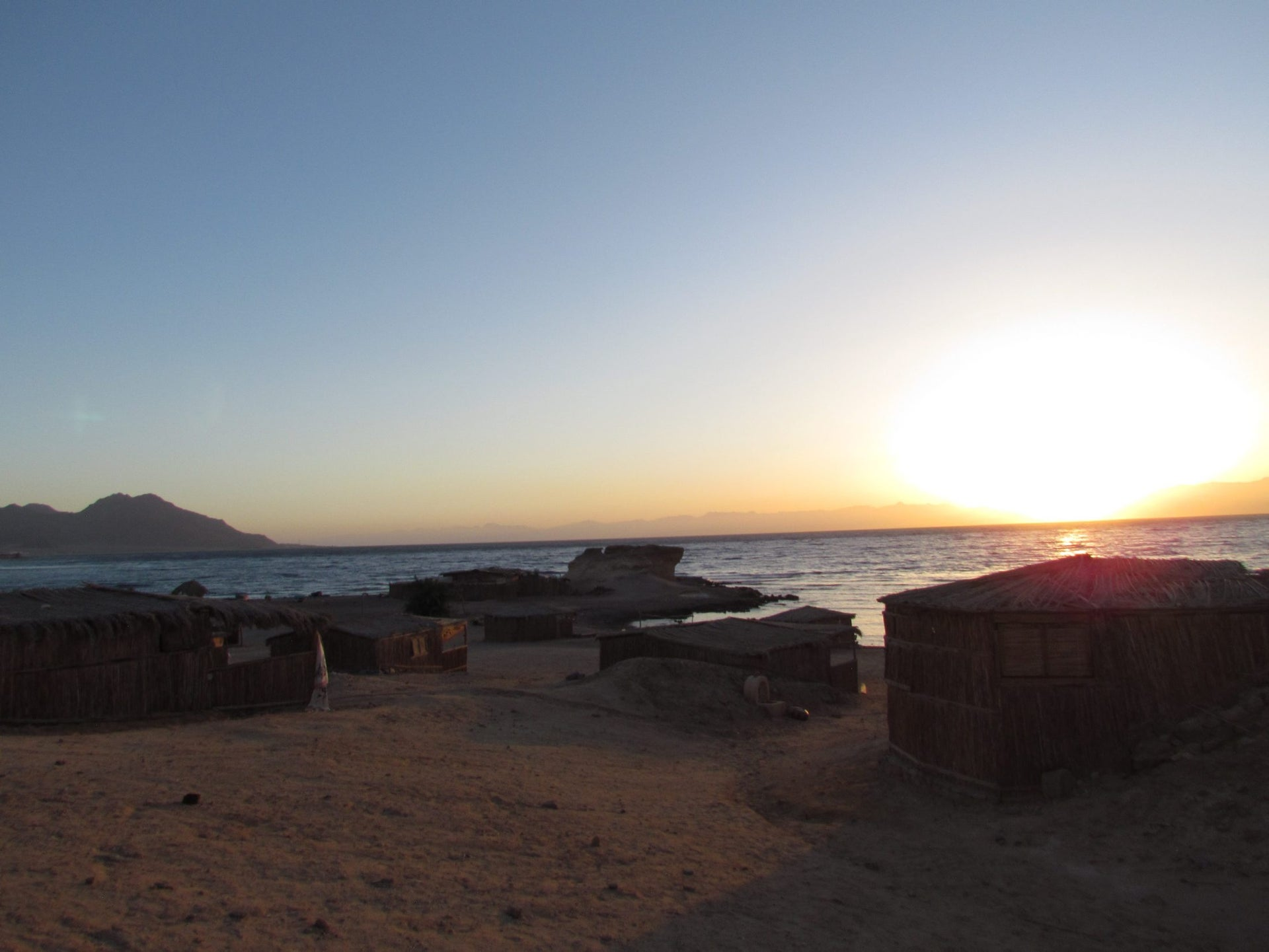 Sunset over the Red Sea in Sinai.