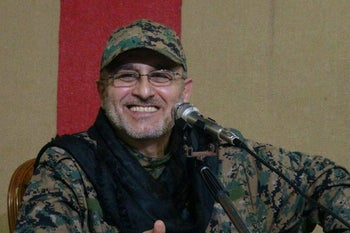 Photograph of late Hezbollah commander Mustafa Badreddine in a handout issued in May 2016.