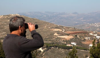 Lebanon, as seen from the northern Israeli town of Metula.