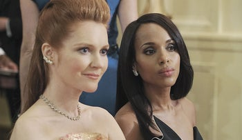 Darby Stanchfield (left) and Kerry Washinton in 'Scandal.'