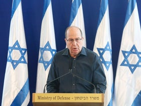 Defense Minister Moshe Ya'alon explains his resignation at IDF headquarters in Tel Aviv on Friday, May 20, 2016.