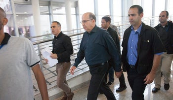 Moshe Ya'alon at military headquarters to announce his departure from the government and Knesset, Tel Aviv, May 20, 2016.