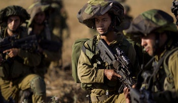 Soldiers in the IDF's Golani Brigade training in the Golan Heights in 2013 (illustrative photo).