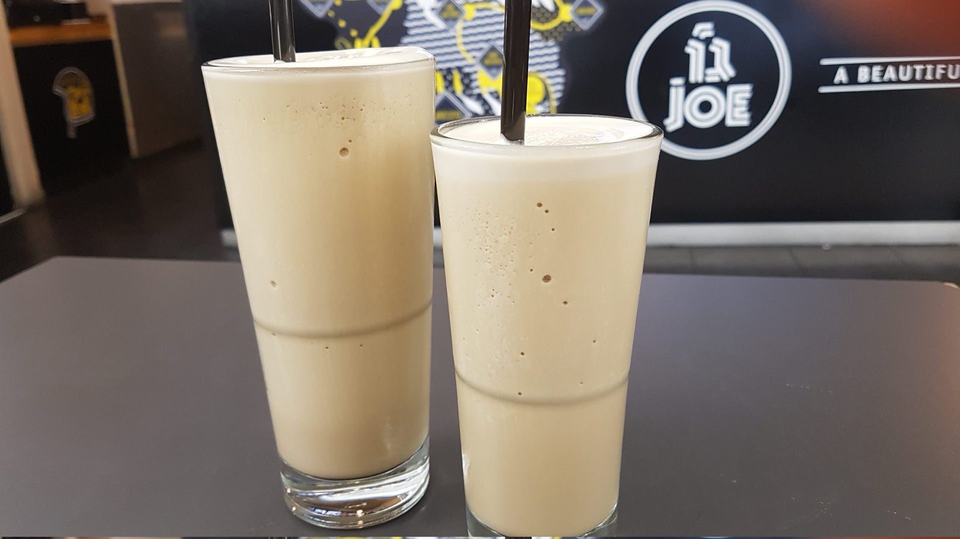 The frozen coffee at Cafe Joe. The diet version is particularly tempting.