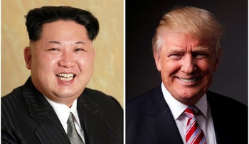 A combination photo of North Korean leader Kim Jong Un and Republican U.S. presidential candidate Donald Trump.