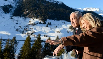 Benjamin Netanyahu and his wife Sara in Davos, Switzerland, in 2014.