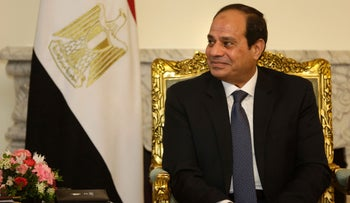Egyptian President Abdel-Fattah al-Sissi during a meeting at the presidential palace in Cairo, May 18, 2016.