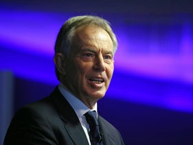 Tony Blair, former U.K. prime minister, at an event in London, April 23, 2014.