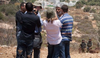 A tour held by the B'tselem human rights group in the West Bank.