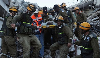 Israeli rescuers arrived in Haiti on the evening of Jan. 15, 2010, hours after Obama spoke.