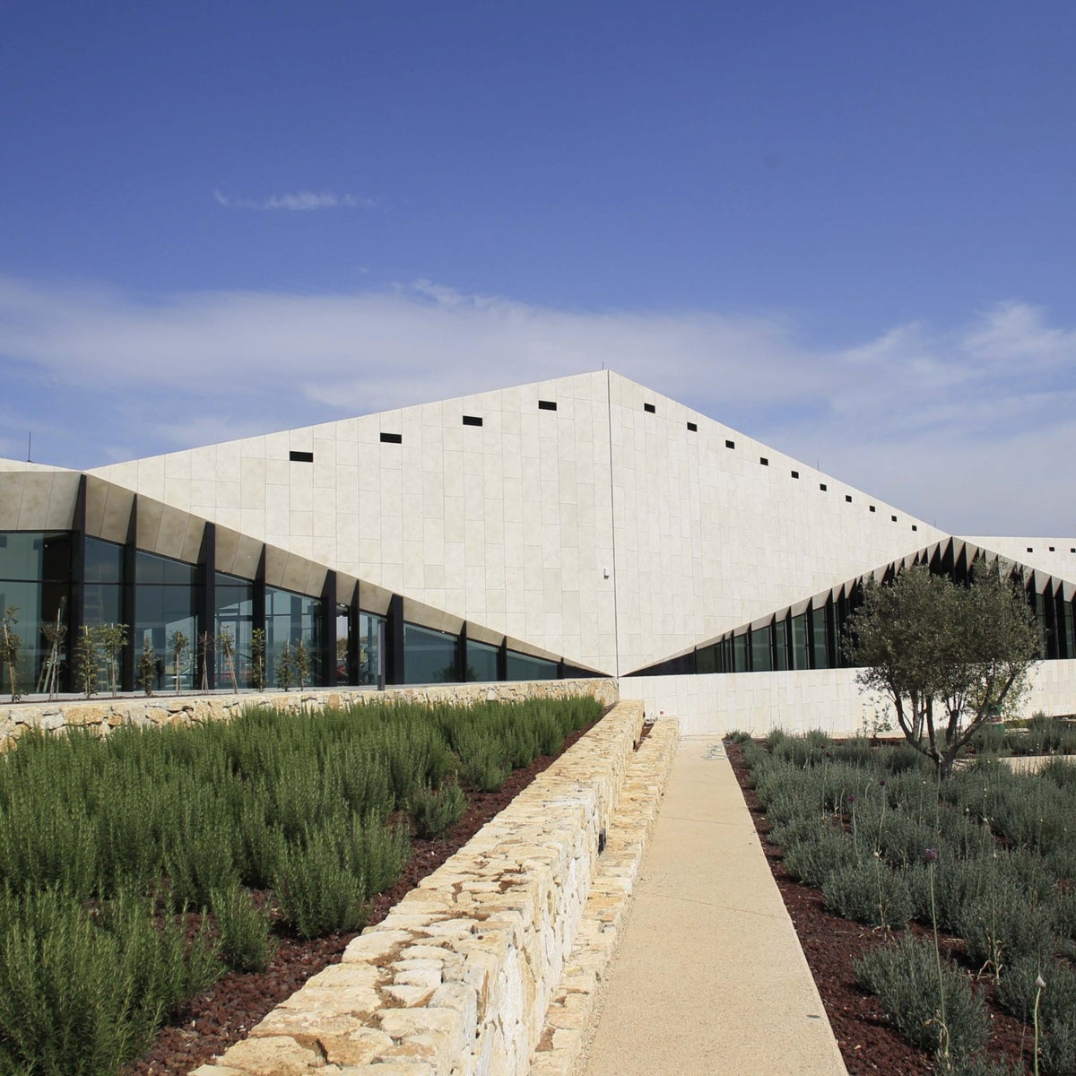 The new Palestinian museum near Ramallah in the West Bank.