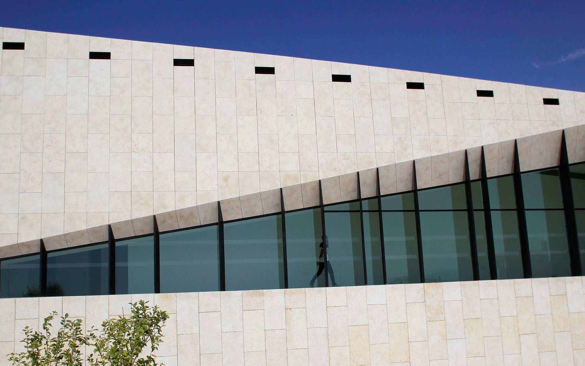 The outside of the new Palestinian Museum near Ramallah.