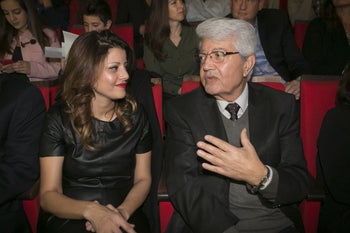 Orly Levi-Abekasis with her father, David Levy, in 2015.