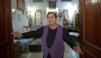 Fadwa Shaya, the eldest resident of the house.