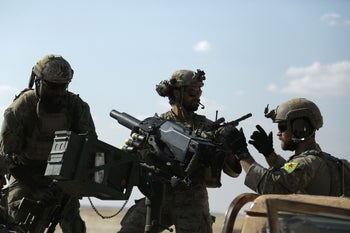U.S. special operations forces are seen in the northern Syrian province of Raqqa on May 25, 2016.