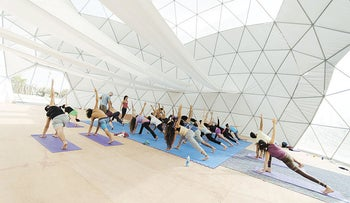 The International Yoga Festival takes place in the north over the weekend.