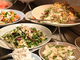 The buffet at Market House in Jaffa.