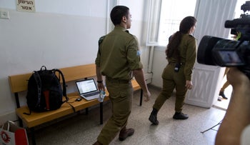 Sgt. Elor Azaria at the military court in Jaffa.