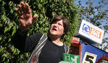 Tzvia Greenfield during her days as a member of the Meretz party.