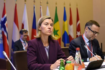 EU foreign policy chief Federica Mogherini attends the Mideast peace summit in in Paris, France, June 3, 2016.