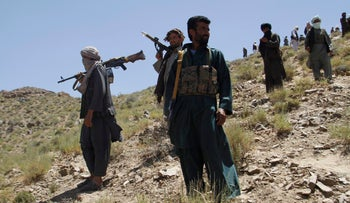 Taliban fighters in Afghanistan's Herat province, May 27, 2016.