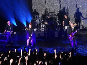Garbage in concert in 2013.