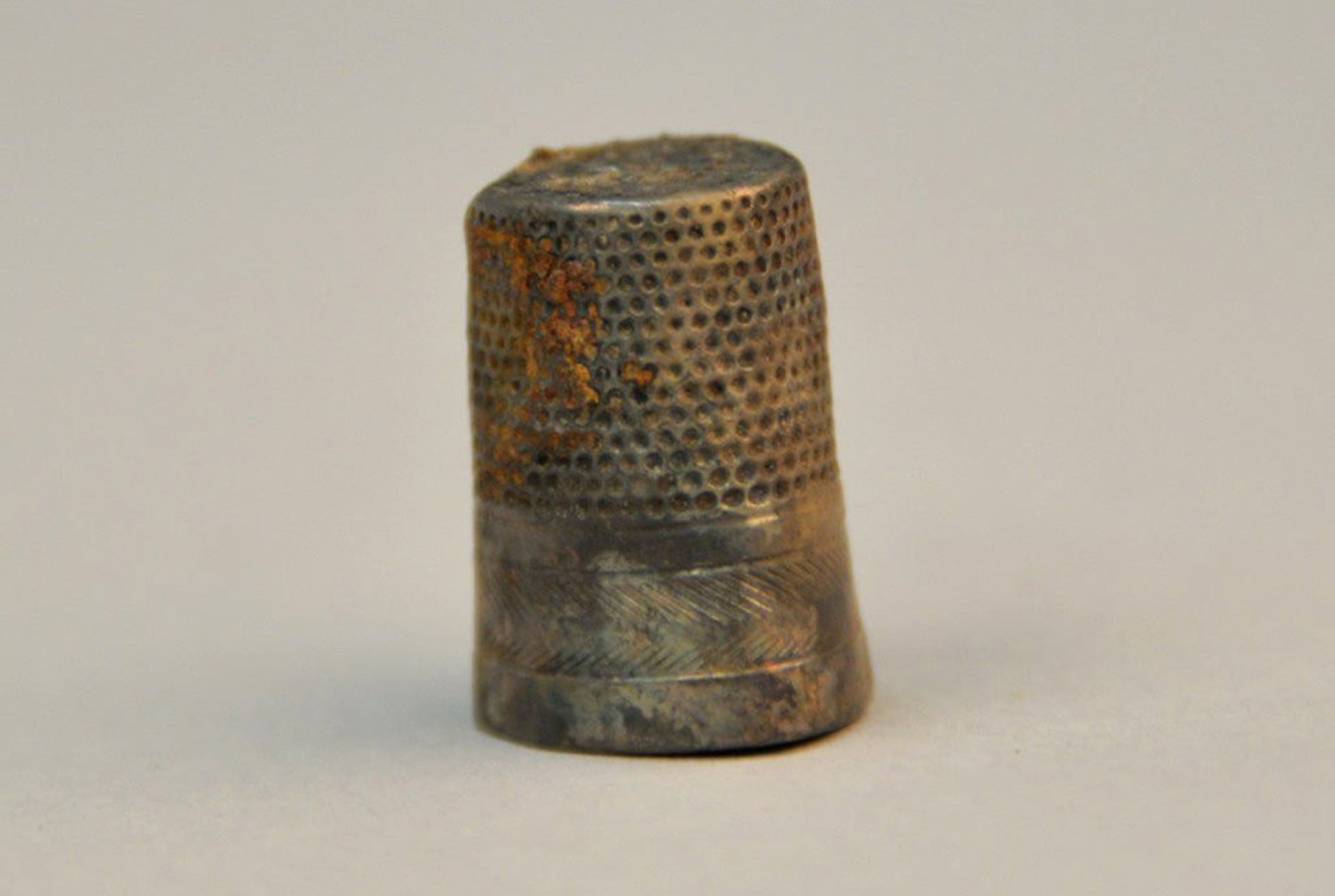 A thimble was discovered among the recently revealed personal items from the Auschwitz death camp.